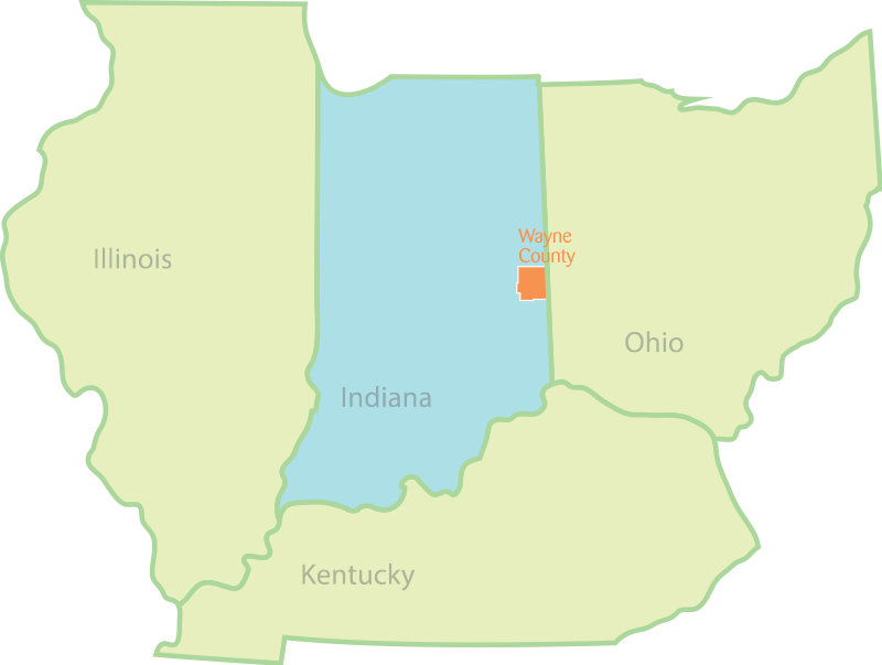 background of states; Illinois, Indiana, Ohio, Kentucky
