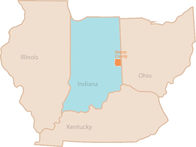 background of states; Illinois, Indiana, Ohio, Kentucky