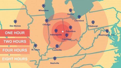 edc regional distance map final